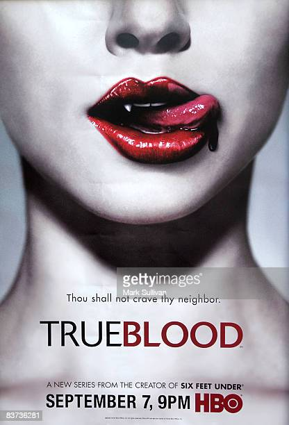 'True Blood' graphic at the Los Angeles Premiere of HBO's Series 'True Blood' at The Cinerama Dome on September 4 2008 in Hollywood California