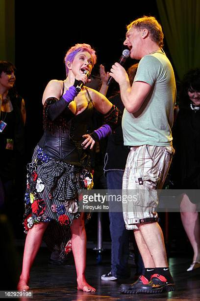True Colors tour at Radio City Music Hall on Monday night June 18 2007This imageCyndi Lauper and Andy Bell of Erasure