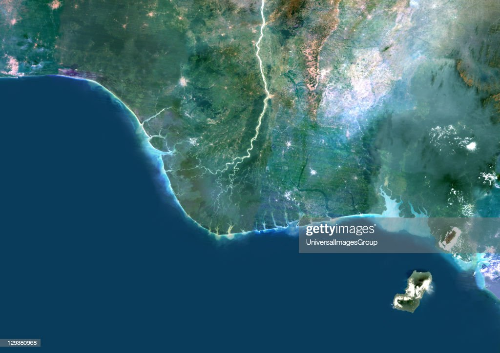 Roadmap Of The Us%0A Niger River Delta Nigeria True Colour Satellite Image Pictures  Africa map  niger river