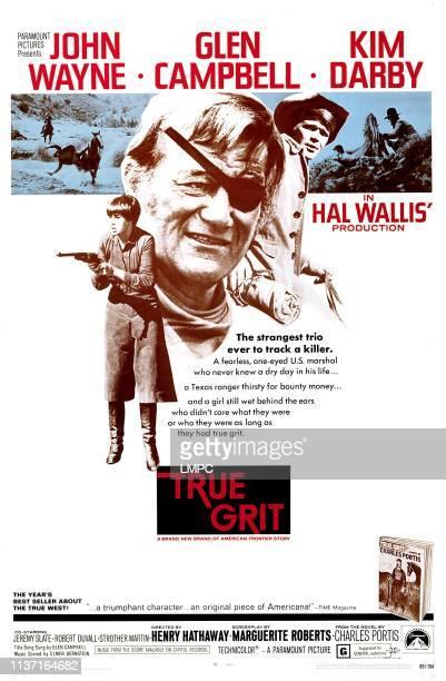 True Grit poster Kim Darby John Wayne Glen Campbell 1969