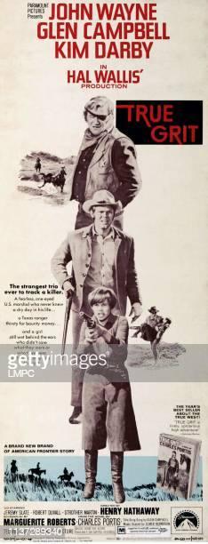 True Grit poster US poster art from top John Wayne Glen Campbell Kim Darby 1969