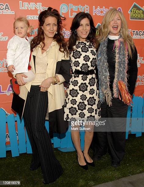 True Harlow FisherDuddy actress Joely Fisher actress Tricia Leigh Fisher and actress Connie Stevens arrive at KIDSLA Magazine launch party held on...