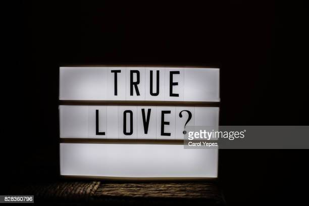 true love? message in lightbox