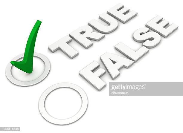Verdadeiro-falso sinal ou sinal assinalado ao