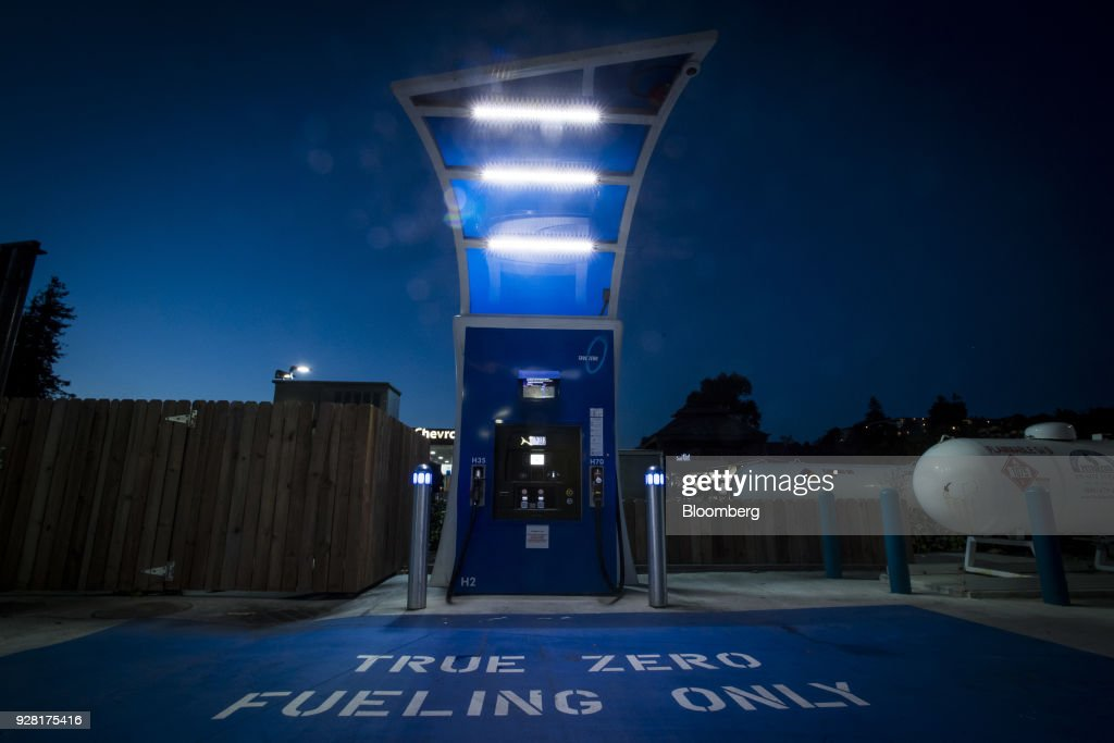 A TrueZero Hydrogen Fueling Station As California's Eight-Figure Hydrogen Subsidies Aren't Paying Off : News Photo