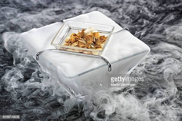 truffle on dry ice - dry ice stock pictures, royalty-free photos & images