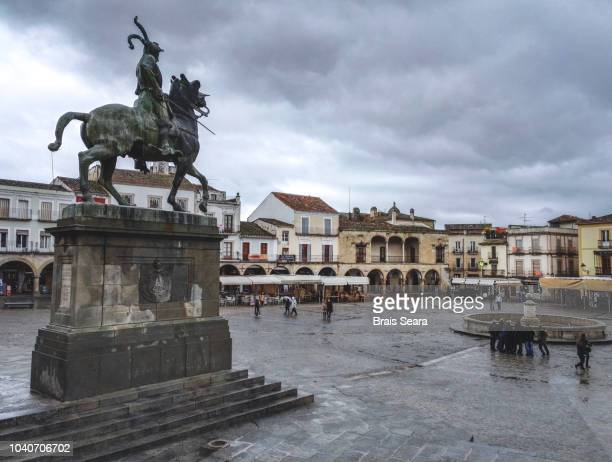 trujillo main square. - mayor stock pictures, royalty-free photos & images