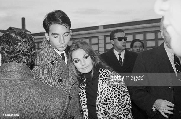 Trujillo's Widow and Son Madrid Spain Lita Milan widow of Rafael Leonidas Trujillo and Trujillo's son T Ramfis Rafael attend Trujillo's burial...