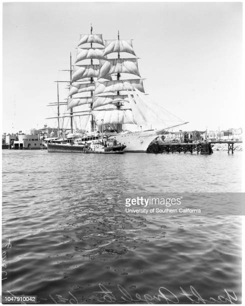 Trujillo's yacht 'Angelita' 21 June 1958 Yacht 'Angelita'People peering through gate at yachtSupplementary material reads 'Note to Photo room 400 at...