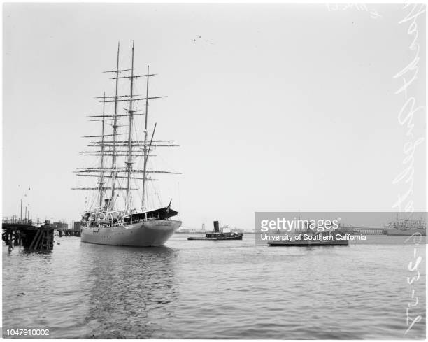Trujillo's yacht 'Angelita' 23 June 1958 Trujillo's yacht 'Angelita' leaving San PedroCaption slip reads 'Photographer Gershon Date 4 negs of...