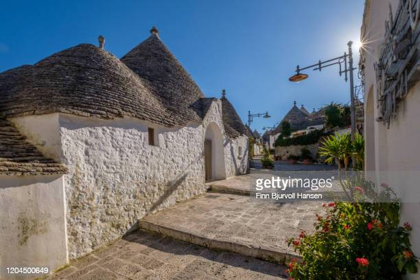 trulli houses in alberobello in puglia italy - finn bjurvoll stock pictures, royalty-free photos & images