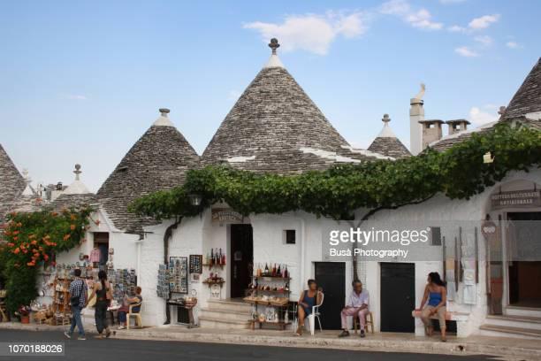 trulli in alberobello, near bari, apulia, southern italy - alberobello stock pictures, royalty-free photos & images