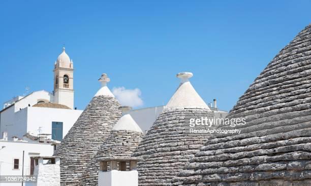 Trullo rooftops, Alberobello, Apulia, Italy