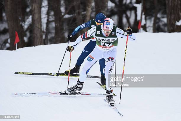 Truls Soenstehagen Johansen of Norway competes in the Individual Gundersen LH/10km during day two of the FIS Nordic Combined World Cup Hakuba on...