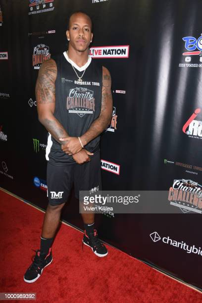 Trumaine Johnson attends 50K Charity Challenge Celebrity Basketball Game at UCLA's Pauley Pavilion on July 17 2018 in Westwood California