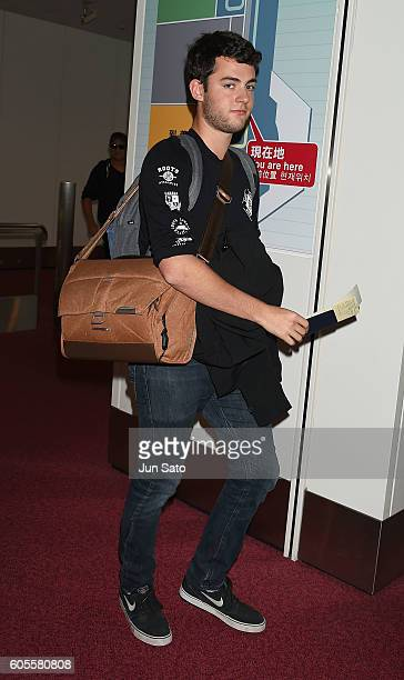 Truman Hanks is seen upon arrival at Haneda Airport on September 14 2016 in Tokyo Japan