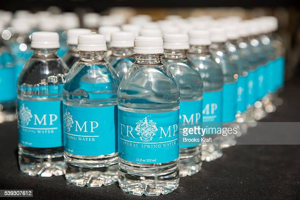 Trump branded water at The Old Post Office Pavilion soon to be a Trump International Hotel March 21 2016 in Washington DC