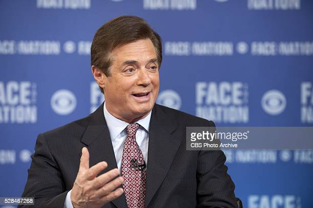 Trump campaign convention manager Paul Manafort appears live on FACE THE NATION on May 1 in Washington D C
