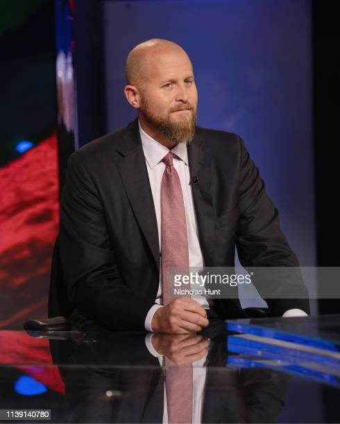 Trump campaign manager Brad Parscale Speaks With Jesse Watters at Fox News Channel Studios on March 28 2019 in New York City