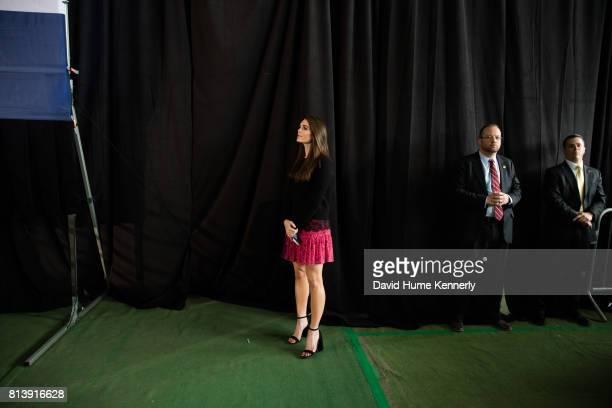 Trump campaign press secretary Hope Hicks at a rally Colorado Springs Colorado October 18 2016