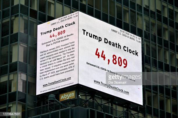 Trump Death Clock which calculates the portion of US COVID19 deaths caused by President Trump's delayed response to the coronavirus pandemic was...
