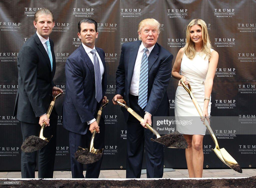 Trump International Hotel Washington, D.C Groundbreaking Ceremony : News Photo