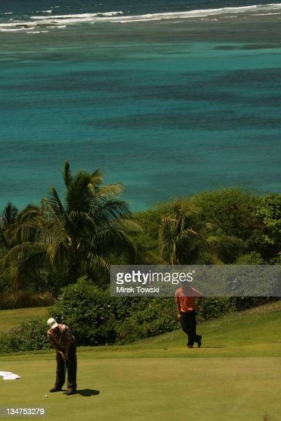 Trump International Golf Course Raffles Resort during Donald Trump Million Dollar Invitational 54 Hole Golf Tournament Day 4 in Canouan Island Saint...
