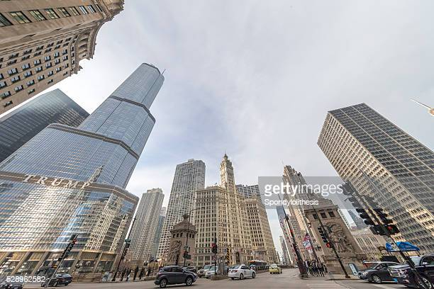 trump international hotel & tower at chicago - trump chicago stock photos and pictures