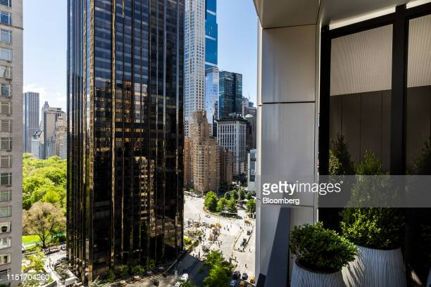 Trump International Hotel Tower New York building is seen from the balcony of an apartment unit in the AvalonBay Communities Inc Park Loggia...