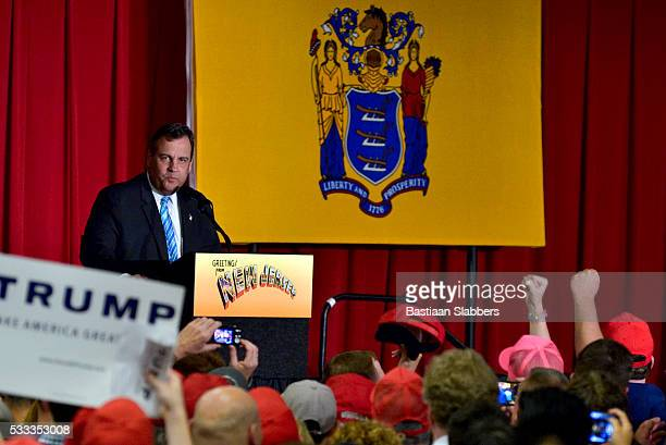 Trump joins Christie at Fundraiser in Lawrence Township, New Jersey