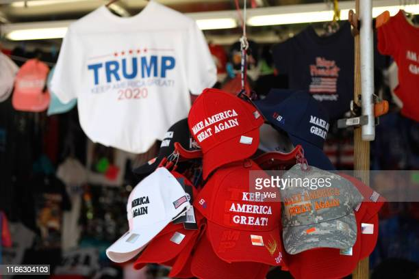 trump maga hats and reelection gear - shock tactics stock pictures, royalty-free photos & images