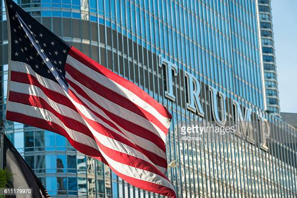 trump - donald trump american flag stock pictures, royalty-free photos & images