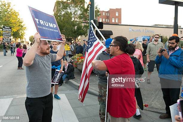 trump protest - democratic party usa stock pictures, royalty-free photos & images