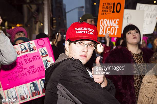 Trump Supporter attending NYC Women's March