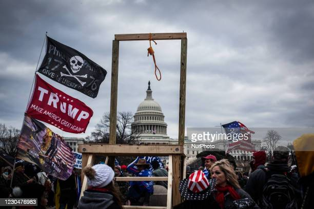 Trump supporters near the U.S Capitol, on January 06, 2021 in Washington, DC. The protesters stormed the historic building, breaking windows and...