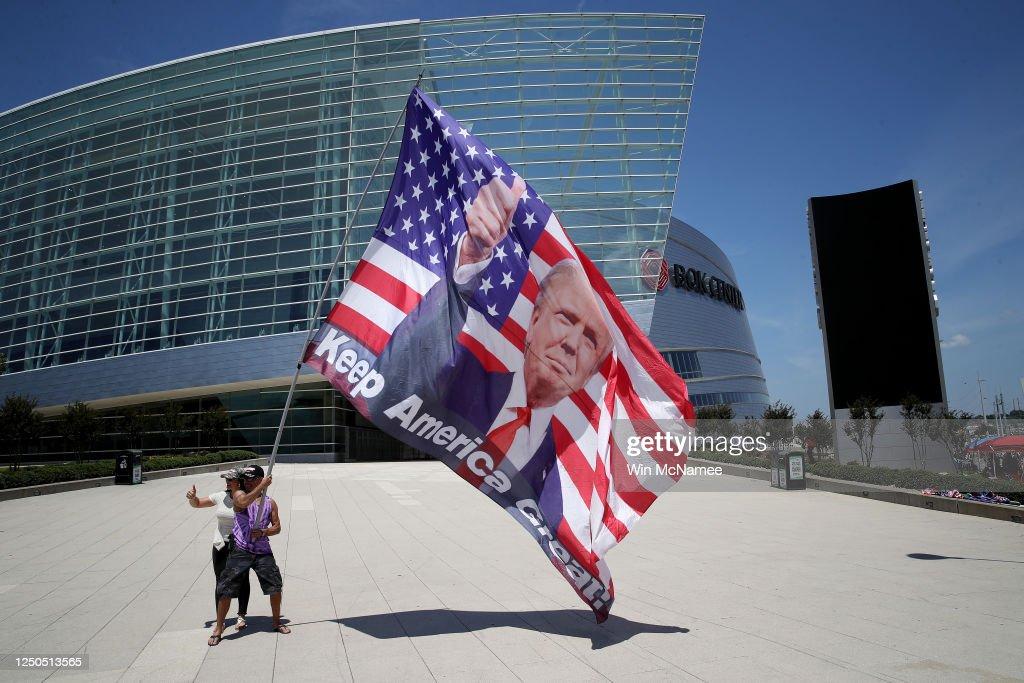 Tulsa, Oklahoma Prepares To Host Trump Rally On Saturday : News Photo