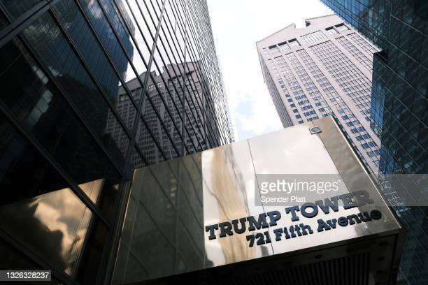 Trump Tower, home to the Trump Organization, stands along Fifth Avenue on June 30, 2021 in New York City. According to reports, federal prosecutors...