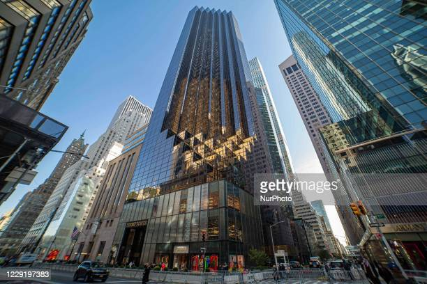 Trump Tower in New York city in the USA. The 58-floor skyscraper at Fifth Avenue in Midtown Manhattan hosts the headquarters for Trump Organization...