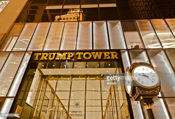 trump tower in the fifth avenue - trump tower fifth avenue manhattan stock photos and pictures