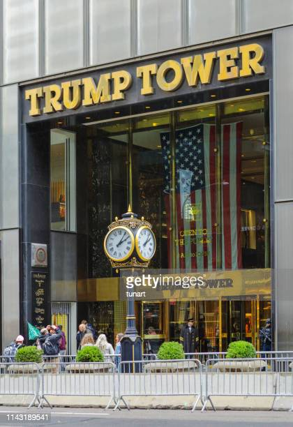 trump tower, manhattan, new york, usa - trump tower fifth avenue manhattan stock pictures, royalty-free photos & images
