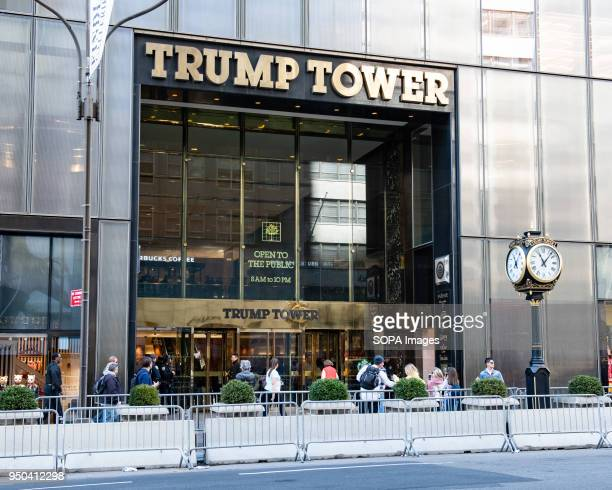 Trump Tower on Fifth Avenue in New York City