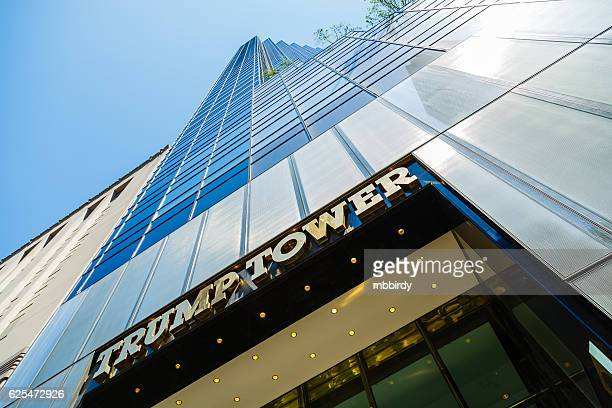 trump tower skyscraper on fifth avenue, new york city, usa - trump tower fifth avenue manhattan stock photos and pictures