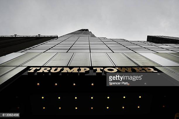 Trump Tower stands in Manhattan on October 8 2016 in New York City The Donald Trump campaign has faced numerous calls for him to step aside after a...
