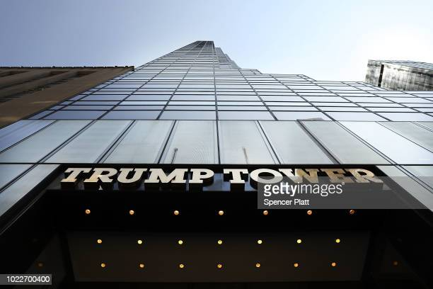 Trump Tower stands on Fifth Avenue in Manhattan on August 24 2018 in New York City Following new allegations over hush money that former Trump...
