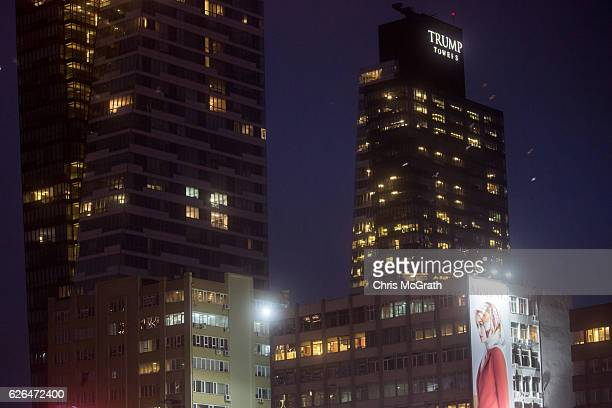 Trump Towers, Istanbul are seen in the Sisli District on November 29, 2016 in Istanbul, Turkey. U.S President-elect Donald Trump has come under...
