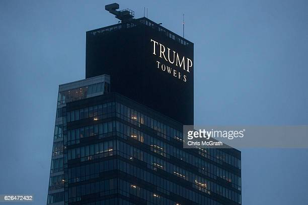 Trump Towers Istanbul are seen in the Sisli District on November 29 2016 in Istanbul Turkey US Presidentelect Donald Trump has come under scrutiny...