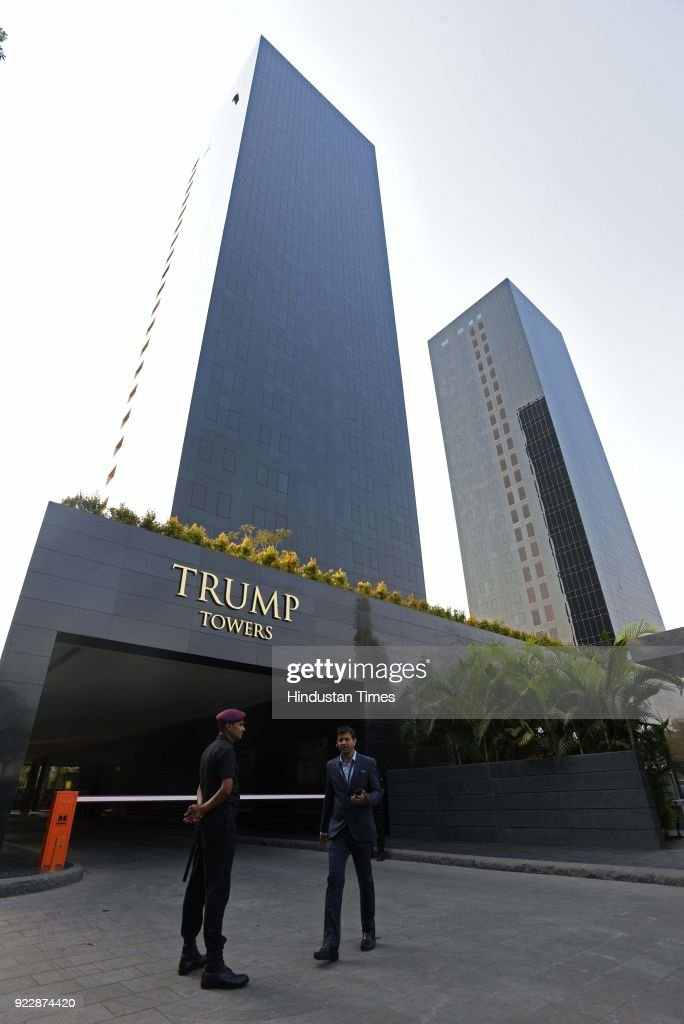 Trump 21 World Depicted As Greek Deity Gaia From: Trump Towers Pune At Kalyani Nagar, On February 21, 2018