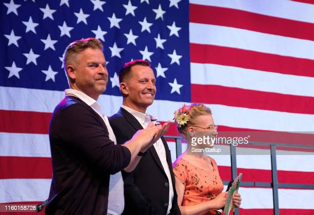 Trumpappointed US Ambassador to Germany Richard Grenell and and his partner Matt Lashey attend the 4th of July party hosted by the US Embassy at...
