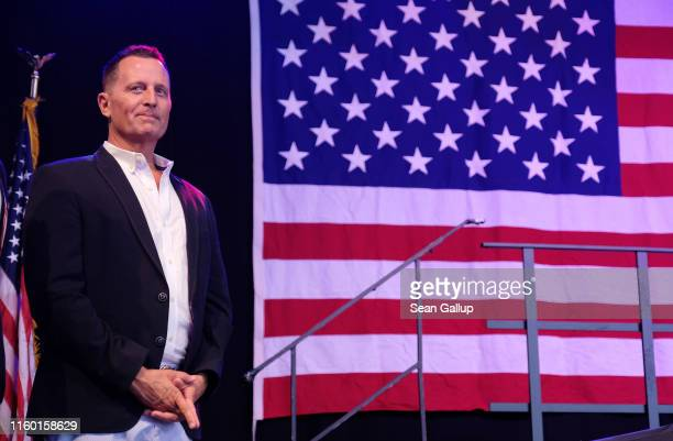Trumpappointed US Ambassador to Germany Richard Grenell attends the 4th of July party hosted by the US Embassy at former Tempelhof Airport on July 04...