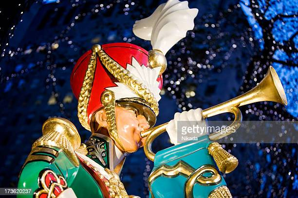 trumpet christmas figure - army christmas stock pictures, royalty-free photos & images